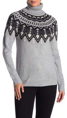 Joe Fresh Fair Isle Turtleneck Sweater