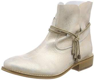 Buffalo London Women's ES 30689 Flash Cold Lined Slip-on Boots Half Length Beige Size: