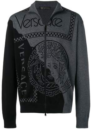 Versace logo zipped sweater