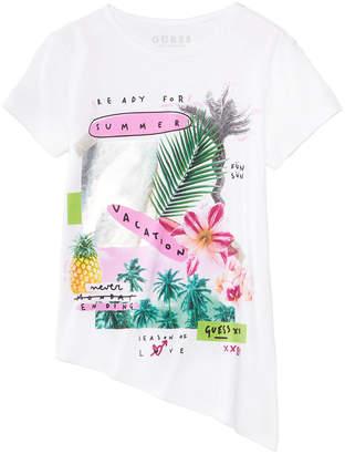 GUESS Big Girls Asymmetrical-Hem T-Shirt