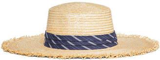 BCBGMAXAZRIA Banded Straw Boater Hat
