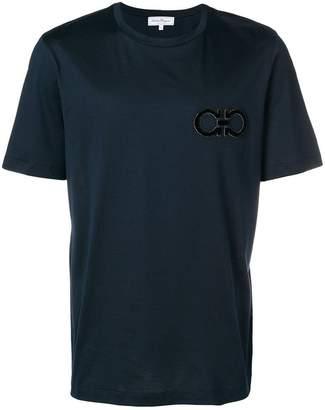 Salvatore Ferragamo double Gancio embroidered T-shirt