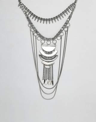 Asos Design DESIGN Statement Festival Bib Necklace