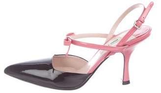 Miu Miu Two-Tone Patent Leather Sandals