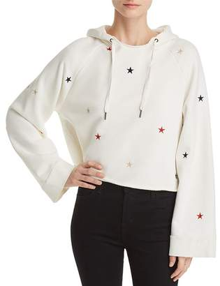 Pam & Gela Embroidered Cropped Hooded Sweatshirt