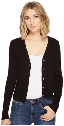 Three Dots Cropped Cardigan $98 thestylecure.com