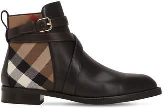 Burberry 20mm Classic Check & Leather Boots