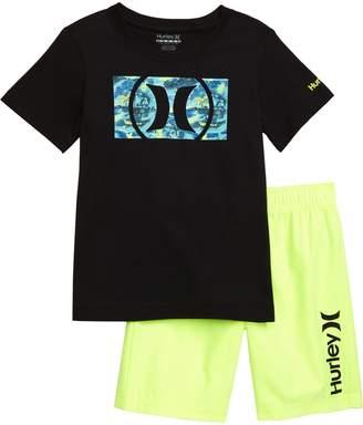 Hurley Logo T-Shirt & Athletic Shorts Set