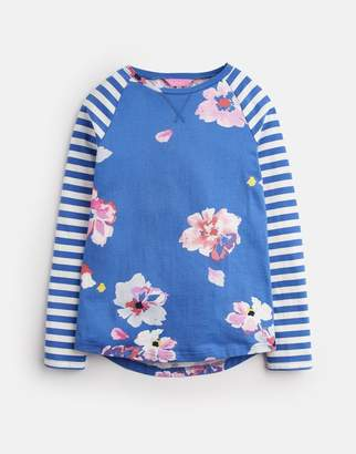Joules MID BLUE FLORAL Mish mash JERSEY HOTCH POTCH TOP 3-12yr Size 6yr
