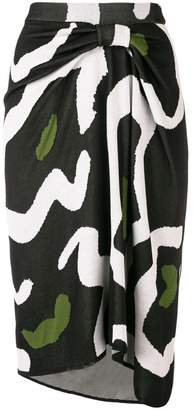 Christian Wijnants abstract pattern knitted skirt