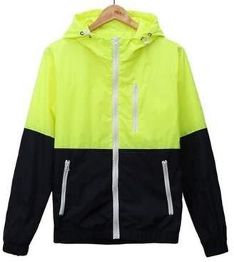 Taiduosheng Womens Light Weight Outdoor Hooded Windbreaker Sports Outwear Jacket 2XL
