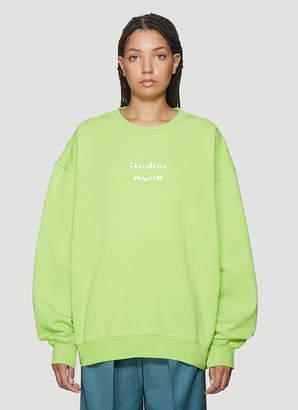 Acne Studios Logo Sweatshirt in Green