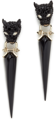 Alexis Bittar Crystal Encrusted Dangling Panther Earrings $275 thestylecure.com