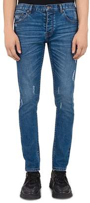 The Kooples Japanese Denim Skinny Jeans in Blue Denim