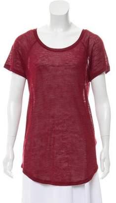 IRO Short Sleeve Bateau Neck T-Shirt