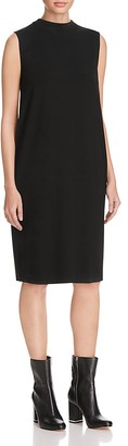 Eileen Fisher Funnel Mock Neck Dress - 100% Exclusive $188 thestylecure.com