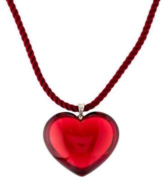 Baccarat Crystal Heart Pendant Necklace Red Crystal Heart Pendant Necklace