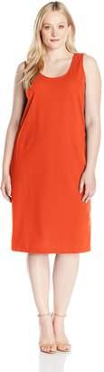 Joan Vass Women's Plus Size Stretch Pique Tank Dress