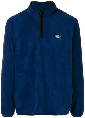 Stussy zipped collar sweatshirt