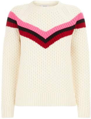 Milly Chevron Stripe Knitted Sweater