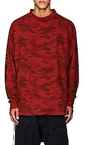 """Taverniti So Ben Unravel Project BEN UNRAVEL PROJECT MEN'S """"PA""""-GRAPHIC CAMOUFLAGE T-SHIRT-RED SIZE XS"""
