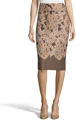 Label By 5twelve Puff-Print Midi Pencil Skirt