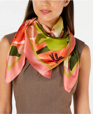 Vince Camuto Tropic Bloom Silk Square Scarf