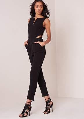 261cc74da95 Missy Empire Missyempire Nymphadora Black Cutout Jumpsuit