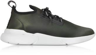 Moschino Ettore Military Satin Low Top Sneakers