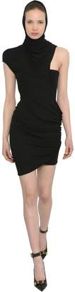 Versace Asymmetrical Viscose Jersey Dress