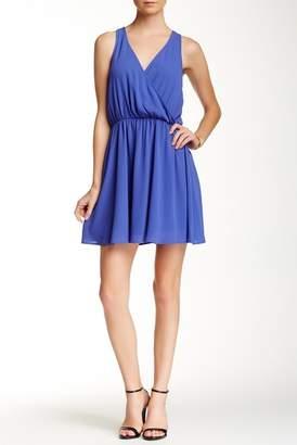 Lush Sleeveless Faux Wrap Dress $46 thestylecure.com