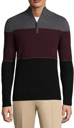 Dockers Mock Neck Long Sleeve Acrylic Pullover Sweater