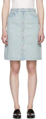 A.P.C. Indigo Therese Denim Miniskirt