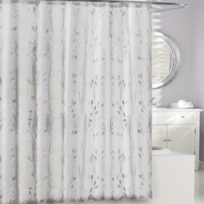 Moda at Home 3D Embossed PEVA Shower Curtain in Clear