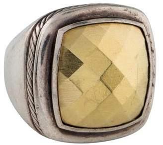 David Yurman Two-Tone Gold Domed Albion Ring