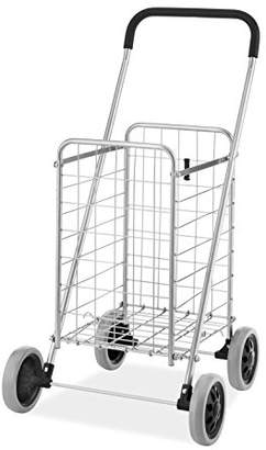 Whitmor Utility Shopping Cart - Durable Folding Design Easy Storage