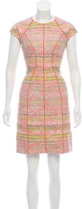 Lela Rose Tweed Knee-Length Dress