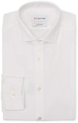 Calvin Klein White Diamond Pattern Extreme Slim Fit Dress Shirt
