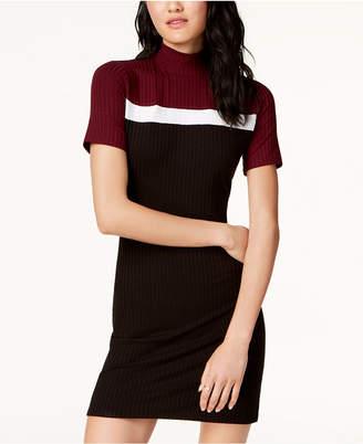 One Clothing Juniors' Mock-Neck Colorblocked Dress