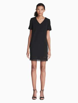 Calvin Klein lace v-neck short sleeve t-shirt dress