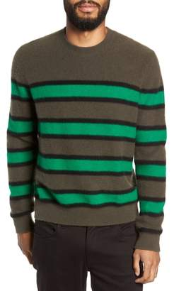 Vince Regular Fit Stripe Cashmere Sweater