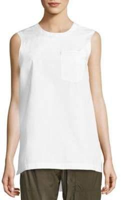 Donna Karan Solid Sleeveless Top