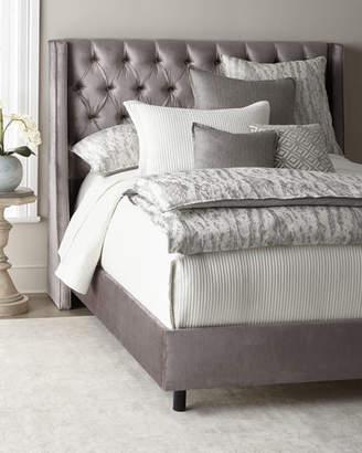 Neerah Velvet Tufted California King Bed