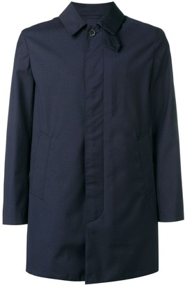 MACKINTOSH Navy Storm System Wool Short Coat GM-002BS