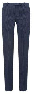 HUGO Boss Regular-fit cigarette pants in pinstripe stretch fabric 0 Open Blue