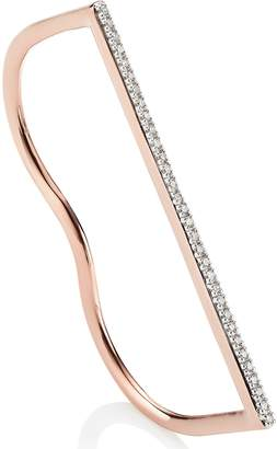 Monica Vinader Fiji Skinny Double Ring with Diamonds