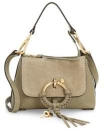 See by Chloe Mini Joan Suede& Pebbled Leather Hobo Bag