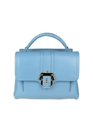 Paula Cademartori Petite Faye Bag In Blue Leather