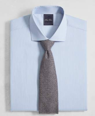 Brooks Brothers Golden Fleece Milano Slim-Fit Dress Shirt, English Collar End-on-End Frame Stripe