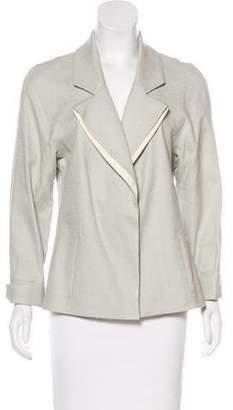 Lela Rose Lightweight Linen-Blend Jacket